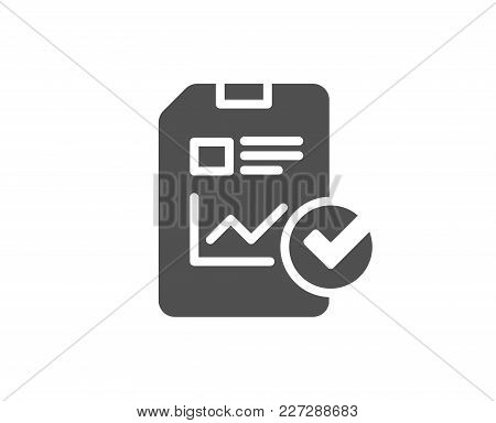 Report Document Simple Icon. Analysis Chart Or Sales Growth Report Sign. Statistics Data Or Checklis