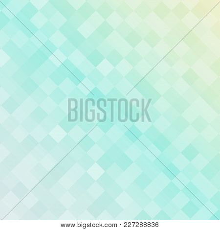 Abstract Soft Blue Color Square Pattern, Squares Mosaic Background. Vector Graphic Illustration