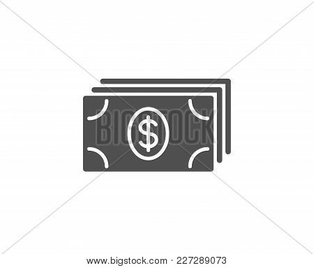 Cash Money Simple Icon. Banking Currency Sign. Dollar Or Usd Symbol. Quality Design Elements. Classi