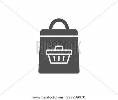 Shopping Bag With Cart Simple Icon. Supermarket Buying Sign. Sale Symbol. Quality Design Elements. C