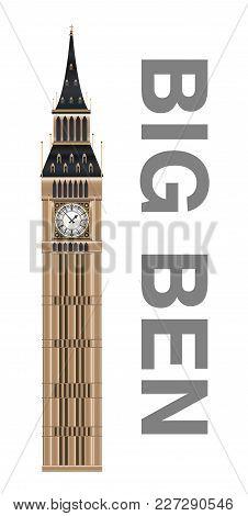 Big Ben Watch Tower Of England  Vector