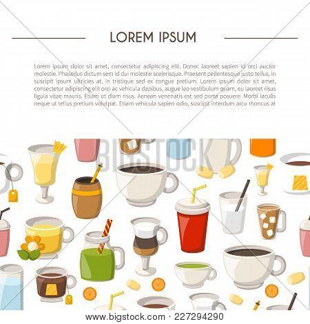 Vector Cartoon Illustration With Baking Ingredients. Cooking Ingredients Icons. Vector Cartoon Kitch