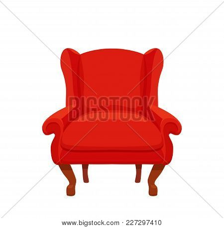 Armchair Colorful Cartoon Illustration Vector. Collection Of Comfortable Chairs Lounge For Interior