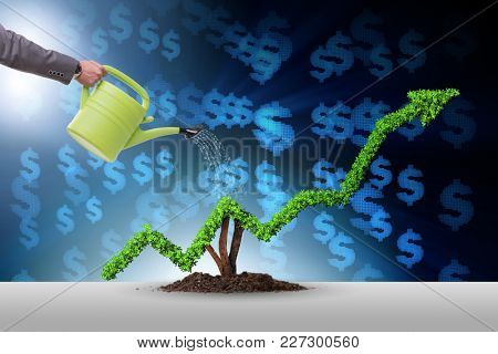 Businessman in responsible ecological business