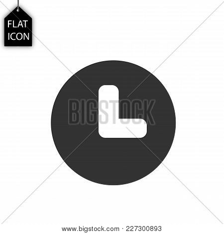 Wristwatch Icon Vector, Flat Design Best Vector Icon Clock