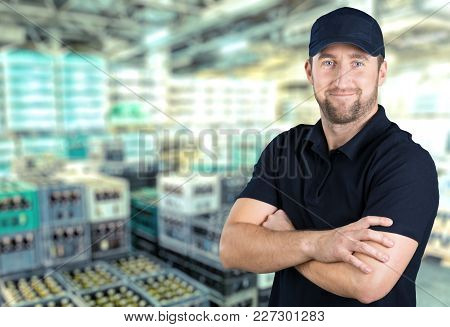 Happy Young Man Color Background View Years