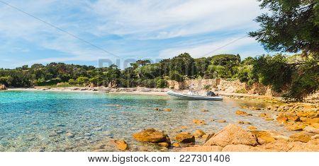 A Small Cove In Sardinia In Italy