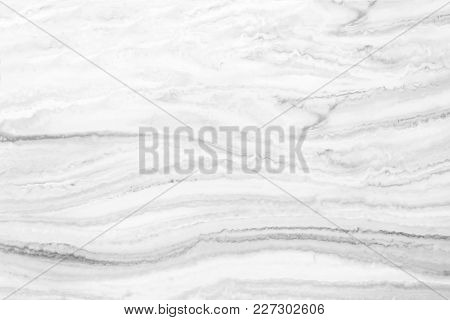 White Marble Surface Texture With Black Stripes For Background.