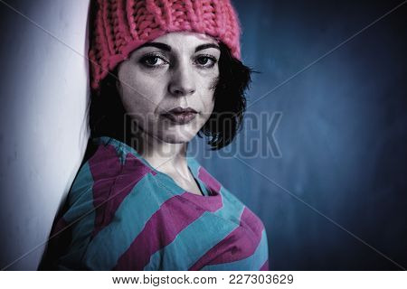 Single And Lonely Woman Depressed (gestures, Body Language, Psychology Concept)