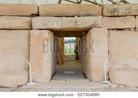 Hagar Qim Temple Complex Found On The Island Of Malta
