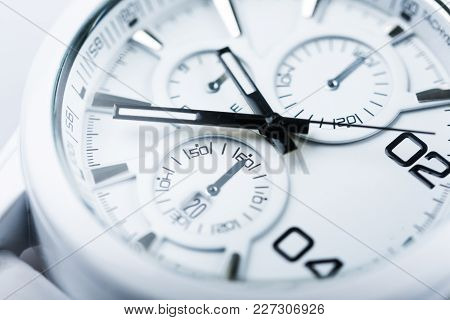 Close-up Metal Photo Clock Numbers Color Objects