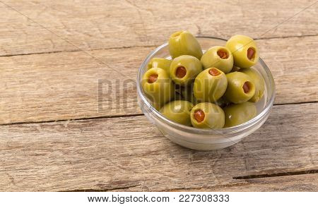 The Green Olives In Bowl