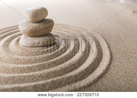 Sand Stones Zen Yellow Background Simplicity Scene