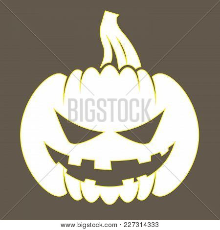 Jack O Lantern - Sticker With Silhouette Of Halloween Pumpkin