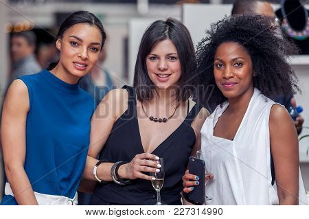 Cape Town, South Africa, 08/10/2015. Ladies Looking Glamorous And Smiling At Fancy Event.
