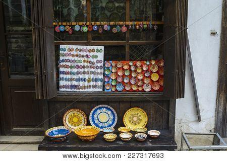 Veliko Tarnovo, Bulgaria - April 03, 2015: Shop In The Pedestrian Street In The Old Town, Traditiona