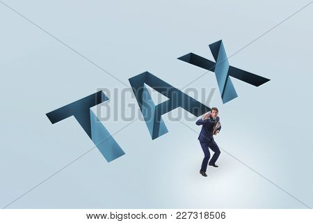 Businessman in tax financial and business concept