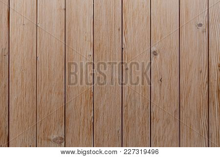 Brown Wood Background, Well Visible Tree Texture, Space For Text