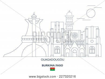 Ouagadougou Linear City Skyline, Burkina Faso. Famous Places
