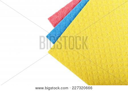 Colored Washcloths Isolated