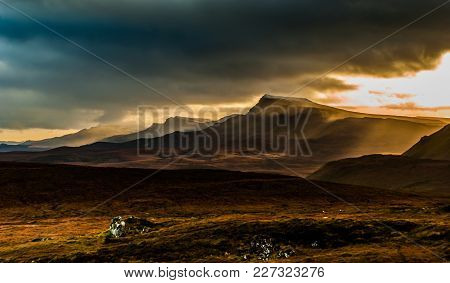 Trotternish Ridge From The Quiriang, Isle Of Skye