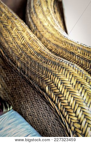 Abstract Image Of Cane Furniture Weave Up Close, Weave Pattern On Patio Furniture