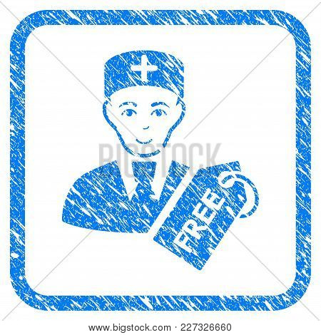 Free Doctor Rubber Seal Stamp Imitation. Icon Vector Symbol With Grunge Design And Dust Texture Insi