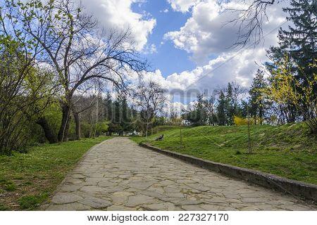 Walkway In A Park Behind The Art Gallery In Veliko Tarnovo, Bulgaria