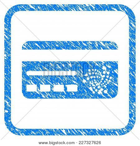 Iota Banking Card Rubber Seal Stamp Imitation. Icon Vector Symbol With Grunge Design And Corrosion T