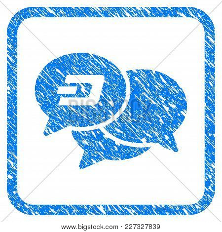 Dash Webinar Rubber Seal Stamp Imitation. Icon Vector Symbol With Grunge Design And Dirty Texture In