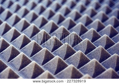 Acoustic Foam Panel Background, Blue Toned Image