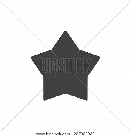 Star Vector Icon. Filled Flat Sign For Mobile Concept And Web Design. Favorite Simple Solid Icon. Sy