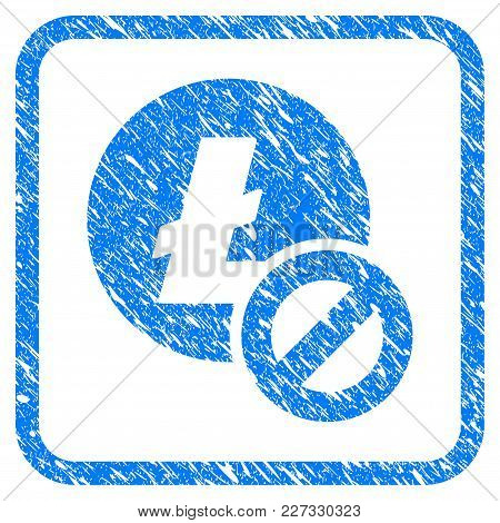 Forbidden Litecoin Rubber Seal Stamp Imitation. Icon Vector Symbol With Grunge Design And Corrosion