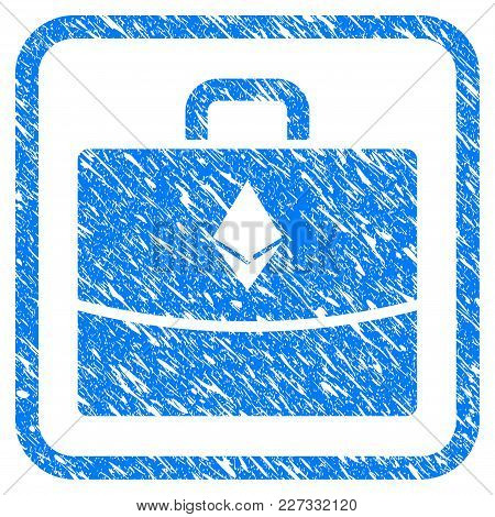 Ethereum Accounting Case Rubber Seal Stamp Watermark. Icon Vector Symbol With Grunge Design And Uncl