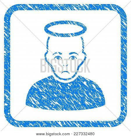 Holy Man Rubber Seal Stamp Imitation. Icon Vector Symbol With Grunge Design And Corrosion Texture In