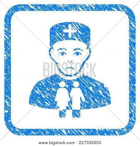Family Doctor Rubber Seal Stamp Imitation. Icon Vector Symbol With Grunge Design And Dirty Texture I