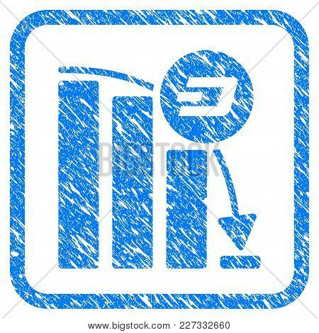 Dashcoin Epic Fall Chart Rubber Seal Stamp Watermark. Icon Vector Symbol With Grunge Design And Dirt