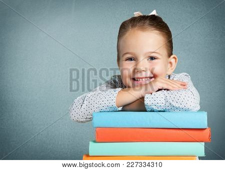 Girl Young Cute Books Elementary Age Background Small