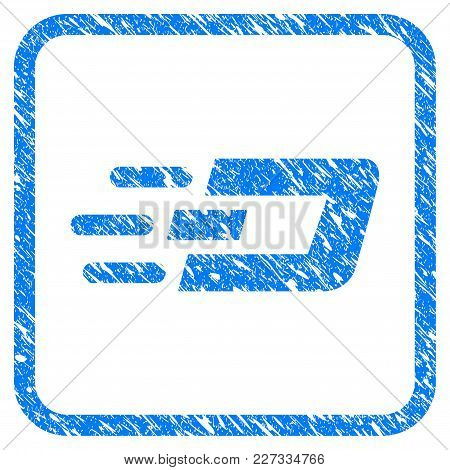 Fast Send Dash Rubber Seal Stamp Imitation. Icon Vector Symbol With Grunge Design And Unclean Textur