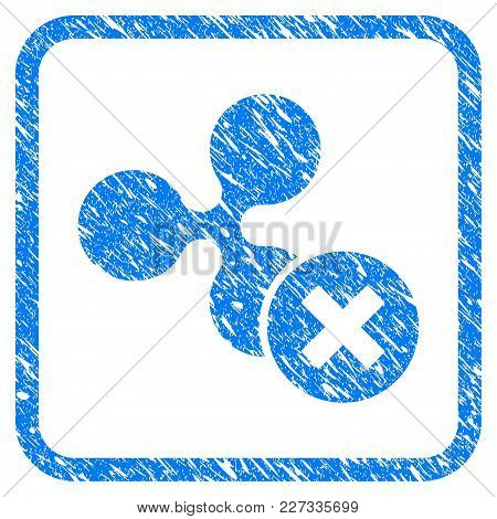 Decline Ripple Rubber Seal Stamp Watermark. Icon Vector Symbol With Grunge Design And Dust Texture I