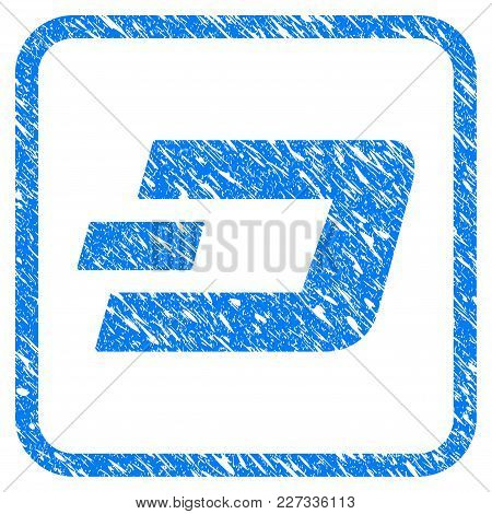 Dashcoin Rubber Seal Stamp Imitation. Icon Vector Symbol With Grunge Design And Unclean Texture Insi