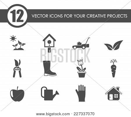 Gardening Vector Icons For Your Creative Ideas