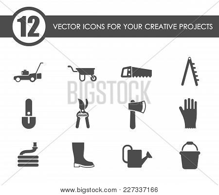 Garden Tools Vector Icons For Your Creative Ideas