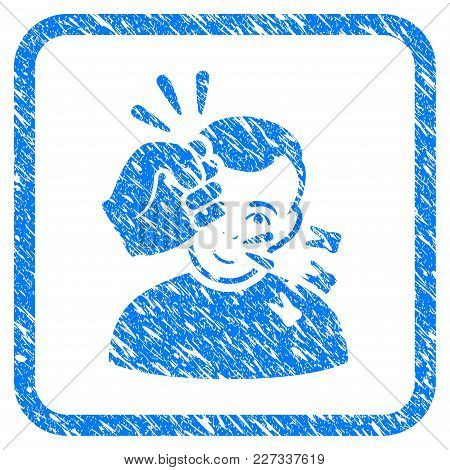 Head Strike Rubber Seal Stamp Watermark. Icon Vector Symbol With Grunge Design And Dust Texture In R