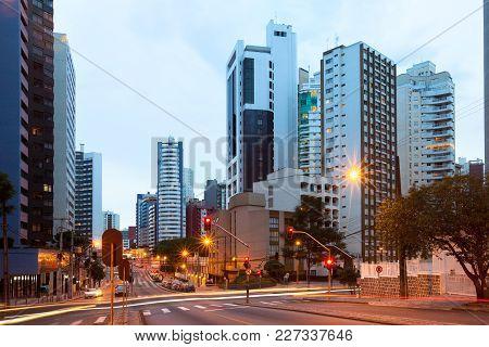 The Wealthy Neighborhood Of Batel, Curitiba, Parana State, Brasil