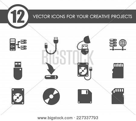 Memory Drives Vector Icons For Your Creative Ideas