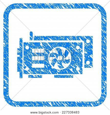 Gpu Video Cards Rubber Seal Stamp Imitation. Icon Vector Symbol With Grunge Design And Dirty Texture