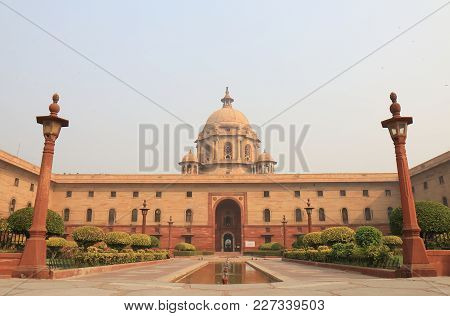 New Delhi India - October 29, 2017: Indian Government Ministry Of Home Affairs Office In New Delhi I