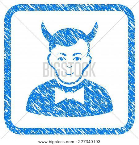 Devil Rubber Seal Stamp Watermark. Icon Vector Symbol With Grunge Design And Dirty Texture Inside Ro