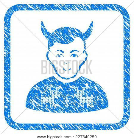 Deers Pullover Horned Husband Rubber Seal Stamp Imitation. Icon Vector Symbol With Grunge Design And